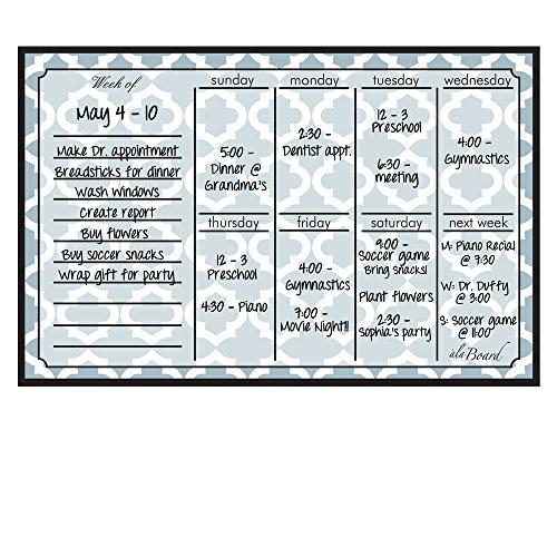 Perpetual Calendar Weekly (Dry Erase Magnet Weekly Calendar Lattice by Ala Board Dry Erase)