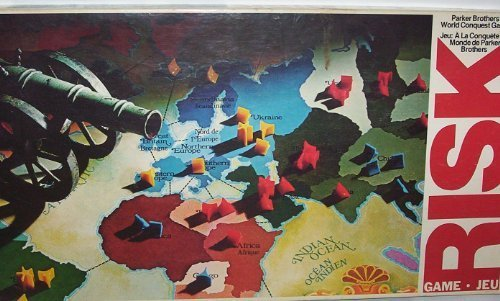 Risk 1980 Board Game by Parker Brothers (English Manual)