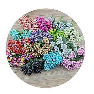 Sevem-D 12 Pcs/Lot Mulberry Flower Artificial Flowers Rods Stamen/Wire DIY Scrapbooking Pistils Flower Heads Craft 112