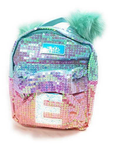 f070311a1fda Justice Girls Ombre Initial Mini Pom Pom Backpack