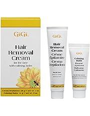 Gigi Hair Removal Cream for The Face, 1 Oz & Calming Balm .5 Oz, 1 Count