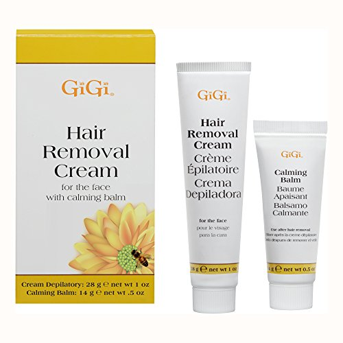 Gigi Hair Removal Cream for The Face, 1 oz & Calming Balm .5 oz