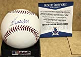 YOAN MONCADA CHICAGO WHITE SOX ROOKIE YEAR SIGNED M.L. BASEBALL BECKETT AUTH. R08213