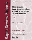 Plastics Wastes, Arnold Tucker, 1859573312