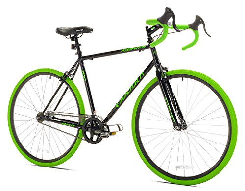 Takara Kabuto Single Speed Road Bike, 700c, Black/Green, Medium/54cm Frame
