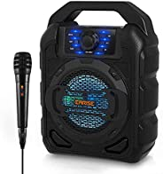 EARISE T15 Portable PA System Speaker for Kids & Adults with Wired Microphone, Bluetooth Karaoke Machine w