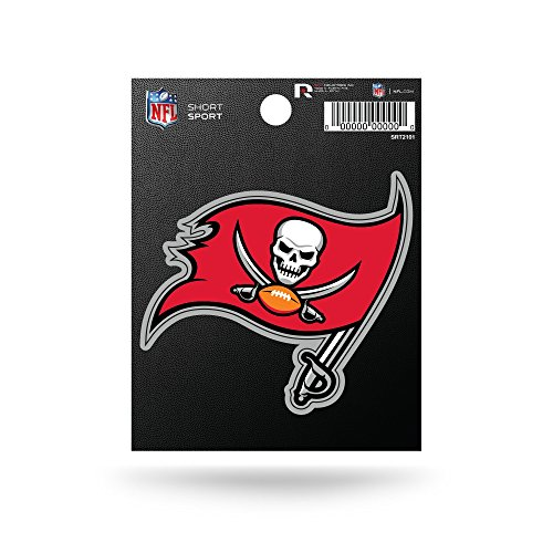 Rico Industries NFL Tampa Bay Buccaneers Die Cut Team Logo Short Sport Sticker]()