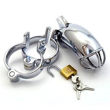 Pipe Cage + anillo Juego, castidad Cinturón para hombres, metal ...