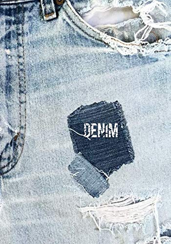 DENIM: 7x10 DENIM BLUE JEANS notebook with dot grid pages, for DENIMHEADS!