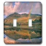 3dRose Danita Delimont - Rainbows - Rainbow over Twin Lakes and Sawatch Range, Colorado, USA - Light Switch Covers - double toggle switch (lsp_259141_2)