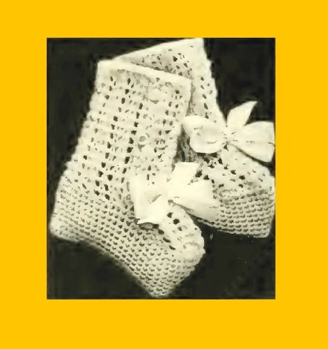 Infant's Knitted Bootees - Columbia No. 2 - Vintage Knitting Pattern. [Annotated] (Columbia Infant Hat And Mittens)
