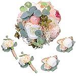 Abbie-Home-5pcs-Wedding-Bouquet-Kit-Artificial-Roses-Peony-Lily-Bridal-Flowers-Wrist-Corsage-Boutonnier-Set
