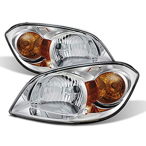 For 2005-2010 Cobalt, 2007-2009 G5, 2005-2006 Pursuit Headlights Front Lamps LH+RH Pair Left+Right/2006 2007 2008 2009 -