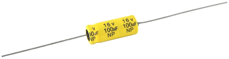 10/Μf Capacitance 20/% Capacitance Tolerance Axial Lead NTE Electronics NPA10M63 Series Npa Aluminum Non Polarized Electrolytic Capacitor 63V Inc.