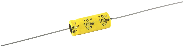 NTE Electronics NPA2.2M100 Series NPA Aluminum Non Polarized Electrolytic Capacitor, 20% Capacitance Tolerance, Axial Lead, 2.2µ F Capacitance, 100V Inc.