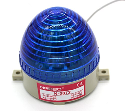 Tower Lamp Flare - Industrial DC 12V Blue LED Warning Light Bulb Signal Tower Lamp Steady Flash (N-3072 12V DC)