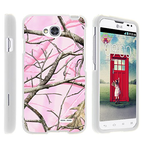 LG Optimus L70 Case, LG Ultimate 2 Case, Stylish Snug Fitted Hard Protector Cover Snap On Case with Customized Design for LG Optimus L70 MS323, LG Optimus Exceed 2 VS450PP, LG Realm LS620, LG Ultimate 2 L41C (Metro PCS, Verizon, Boost Mobile) from MINITURTLE | Includes Clear Screen Protector and Stylus Pen - Pink Hunter Camouflage (Lg Realm Phone Boost Mobile)