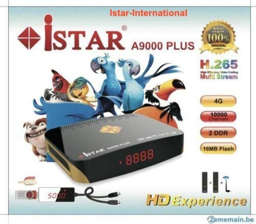 Istar A9000 Plus, iSTAR Korea A9000 Plus Receiver with 12 months free  subscription Arabic Turkish Kurd Somali from ISTAR USA & Canada الفرع