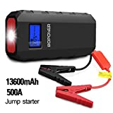 BOPOWER 500A Peak 13600mAh Portable Car Jump Starter Battery Booster and Phone Power Bank with ...