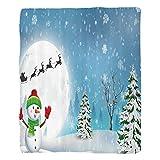 Nalahome 1 Fleece Blanket on Amazon Super Silky Soft All Season Super Plush Christmas Decorations etJollynowman under Full Moon Waving toanta Reindeerleigh Cartoon Kids Accessories Extra