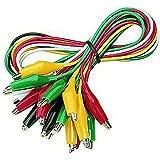 """McCheck """"GT-1810"""" - Set de pinzas de cocodrilo (10 unidades, cable de 50 cm)"""