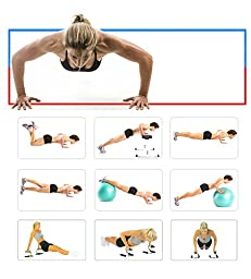 Top Quality Steel Push Up Bars Push Up Stability Trainer - it Fitness Pushup Stands for Perfect Portable Upper Body Workout, Great for Men and Women ...
