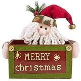 Christmas Candy Box Santa Snowman Fabric Storage
