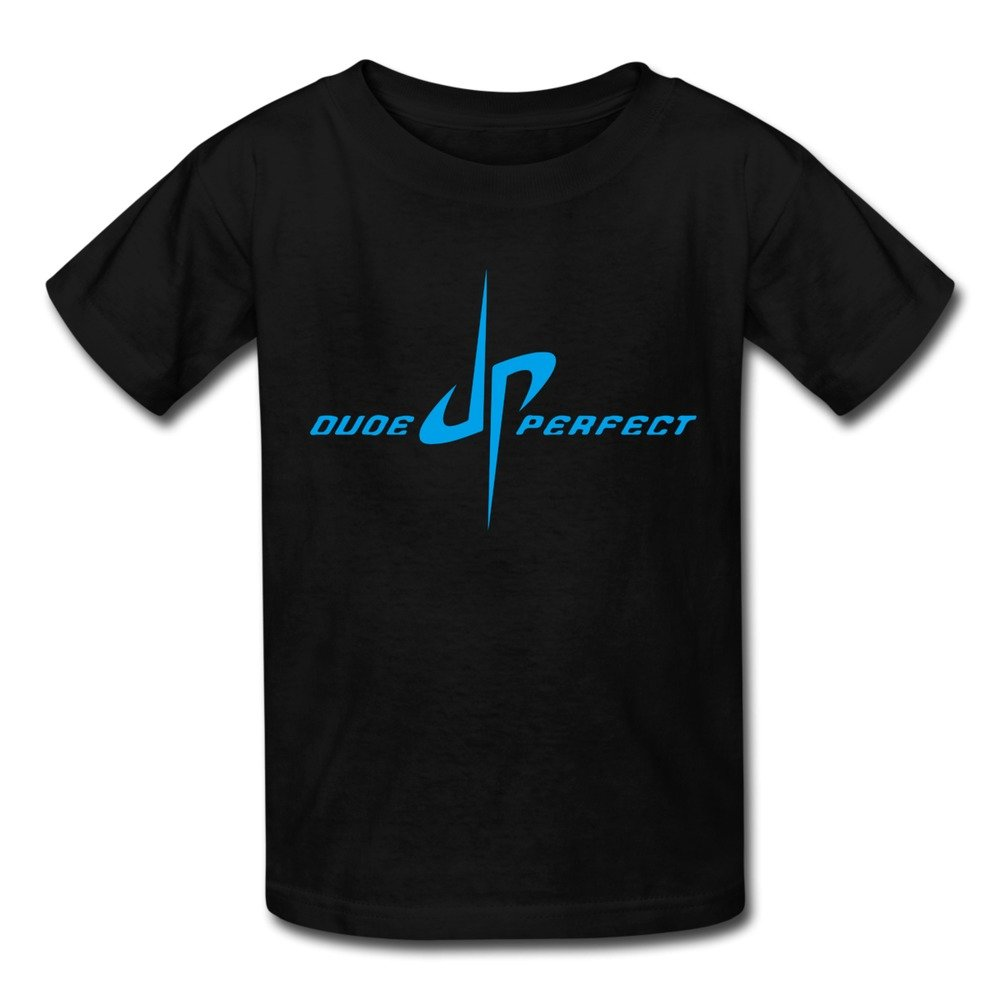 Boys And Girls YouTube DP Dude Perfect Trick Shots Logo T-shirts Black