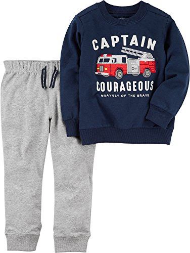Price comparison product image Carter's Baby Boys' French Terry Firetruck Pullover and Joggers Set 9 Months
