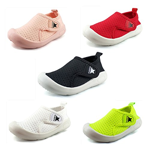 Image of Z-T FUTURE Kids Baby Boy Girl Sneakers - Breathable Mesh Lightweight Toddler Shoes for Walking Running Beach Pool