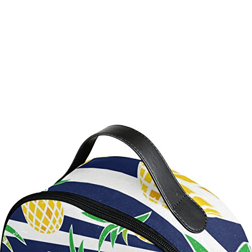 Use4 Striped Pineapple Fruit Retro Polyester Backpack School Travel Bag by ALAZA (Image #3)