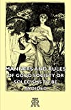 Manners and Rules of Good Society or Sol, Gordon Kerr, 1406727539