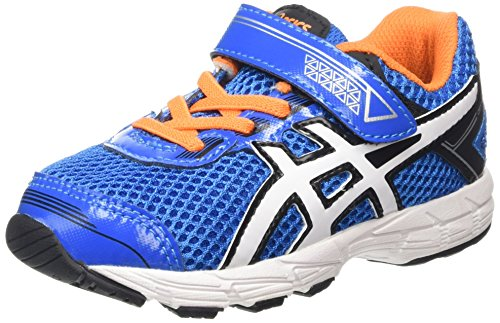 Asics GT 1000 4 TS - Zapatillas de running para niños Azul (Electric Blue / White / Orange)