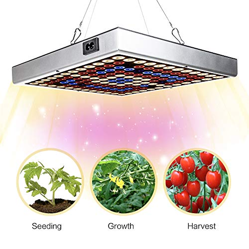 LED Grow Lights,45W Sunlike Full Spectrum Plant Growing Lamp with IR & UV LED Plant Lights for Indoor Plants Seeding & Growing & Flowering ,Can Be Connected Max 6 Panels
