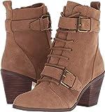 STEVEN by Steve Madden Women's Chavi Ankle Boot, Black Leather, 7.5 M US