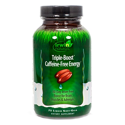 Irwin Naturals Triple-Boost Caffeine-Free Energy Softgels, 75 ct