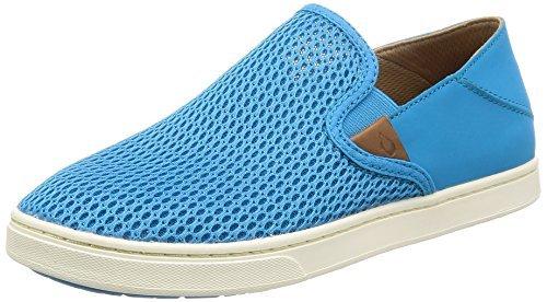 (OLUKAI Women's Pehuea Slip On Shoes, Vivid Blue/Vivid Blue, 8.5 B(M) US)