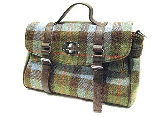 Harris Tweed Macleod Tartan Fashion Satchel Bag - Handwoven in Scotland by Glen Appin LB1001 Col 15