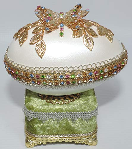 - Daily Treasures Jeweled Butterfly Goose Egg Box