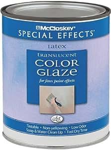 McCloskey 6297 Special Effects Translucent Color Glaze, 31 Fl. Oz, Latex