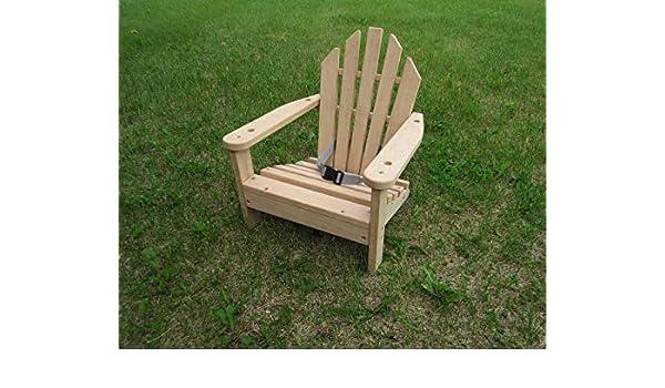Fantastic Amazon Com Childs Adirondack Chair Unfinished Wood Red Creativecarmelina Interior Chair Design Creativecarmelinacom
