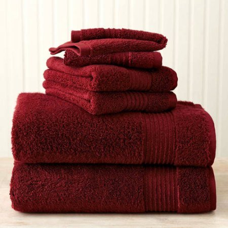 Better homes and gardens extra absorbent bath towel 4 piece assorted set crimson red price for Better homes and gardens bath towels