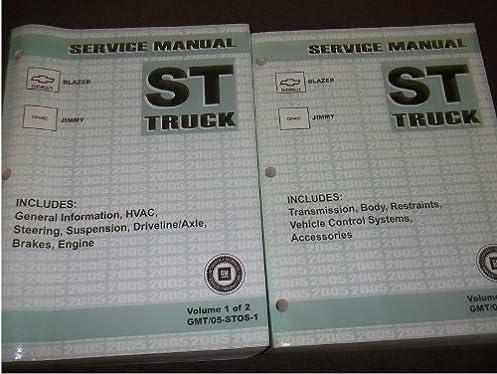 2005 chevy blazer gmc jimmy truck shop service repair manual set oem rh amazon com 2015 Chevy Cruze Factory Service Manual Auto Repair Manual