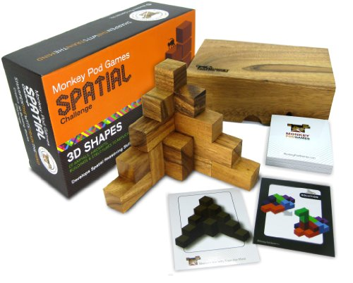 (Monkey Pod Games Spatial Challenge - One of the Best Soma Cube Sets Ever Made)