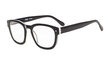 312396e64d5a Eyekepper Reading Glasses Professor Vintage Style Spring Hinges Arms Black + 0.5