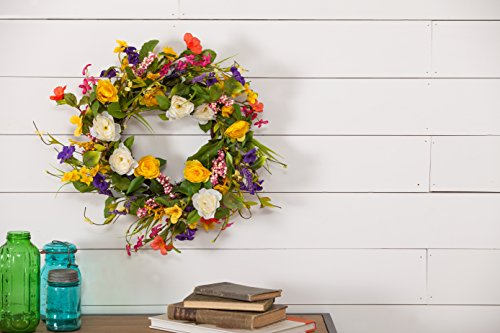Cypress Home Spring Floral 24-inch Wreath