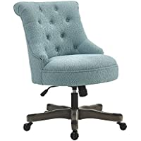 Linon AMZN0240 Talia Light Blue Office Chair, Gray