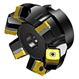 Sandvik Coromant 345-080Q27-13M CoroMill 345 Face Milling Cutter, Steel, Right Hand, 27mm Arbor, 80mm Cutting Diameter x 50mm Overall Length, 13 Insert Size, 6 Close Pitch