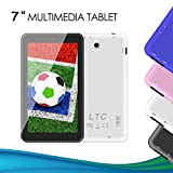 LeaningTech 7 inch Quad Core Google Android 5.1 Lollipop Tablet PC MID 8GB Nand Flash Wide View IPS Display Screen 1024x600 Mail-400 2D 3D 3500mA, Slim Metal Design