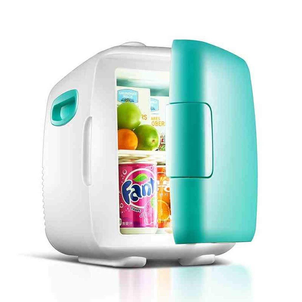 LQQFF Car Refrigerator Car Refrigerator 12V DC / 220-240V AC car Home 4L Camping hot and Cold Dual-use Mini Refrigerator Cooling Box for Cars (Color : Green)